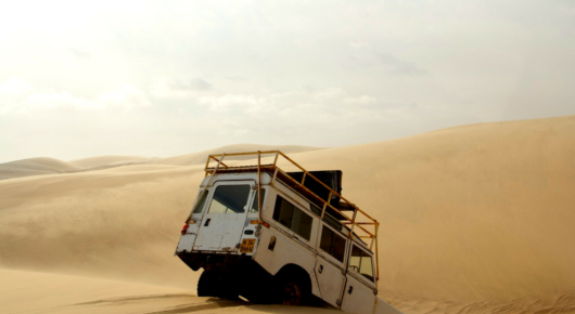 Riding the giant sand dunes