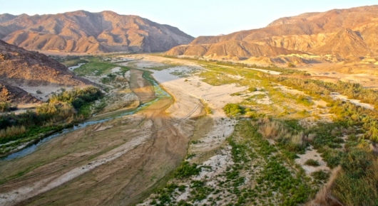 The Hoarusib river is a spectacular linear oasis packed with wildlife and birds