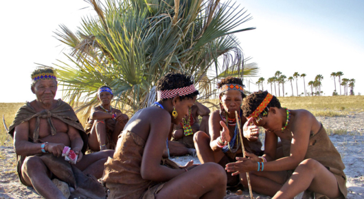 A walk with the bushmen of the Kalahari is a fascinating experience