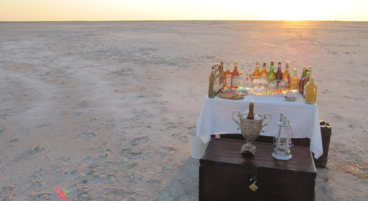Exploring the pans and Kalahari is thirsty work….