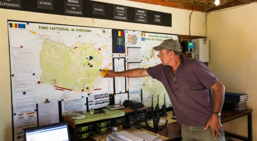 Rian Labuschagne guides us through the National Park control room.