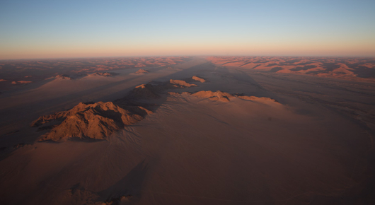 The Tsauchab river bed and Sossusvlei dunes from the hot air balloon