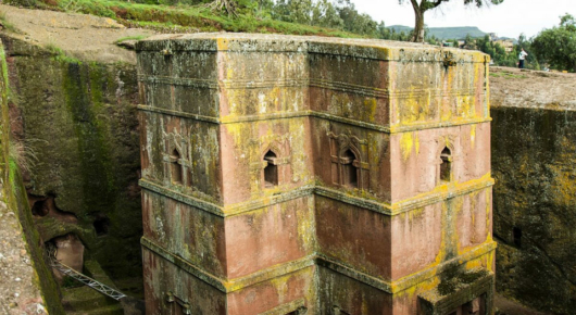 The Church of St. George is one of the 11 rock churches in Lalibela
