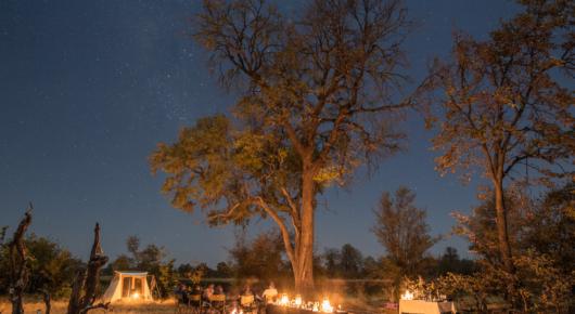 Mobile camping in Botswana
