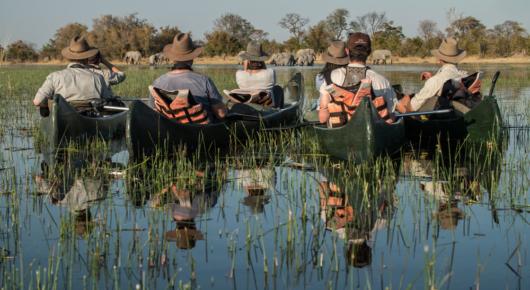 The exhilirating Selinda canoe trail - Botswana
