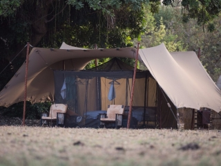 A guest tent at Camp Nomade