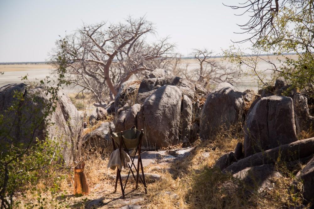 Lunch amongst the boulders and baobabs of Kubu Island
