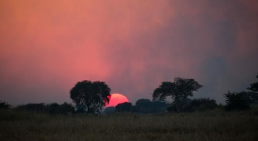 Smoking Zambian sunrise
