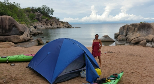 Camping Lake Tanganyika and Kayaks